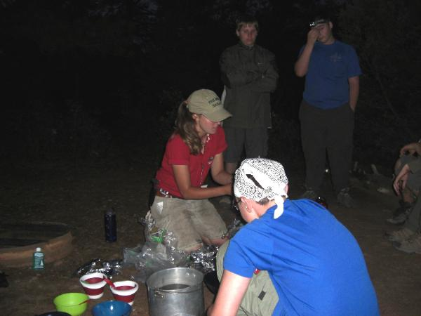 Cooking demonstration of 'One Pot Meal' of Trail Food