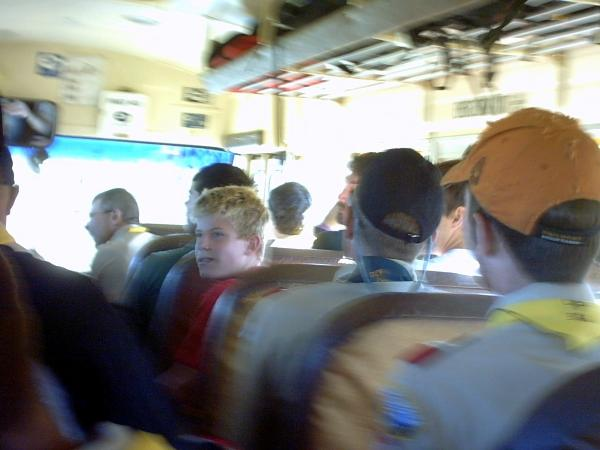 On the bus leaving Philmont.