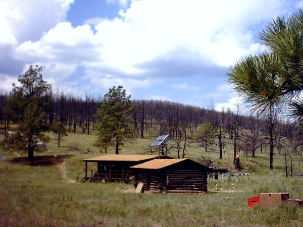 Dan Beard Camp. 'Ponil Complex' Fire almost took out the Cabins.