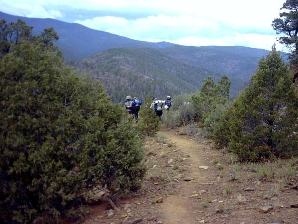 'Goat Path' trail in the Valle.
